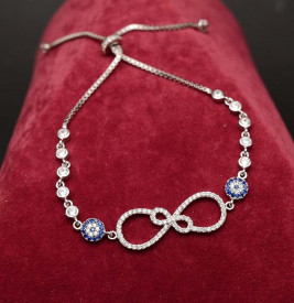 Bratara Din Argint Sparkling Infinite Blue Fatima ARG178A