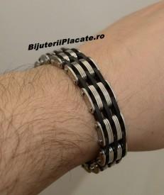 Bratara Inox -BLACK&WHITE- Cod B951