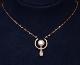Colier argint 925 Pearls & Crystals Hoops ARG332A