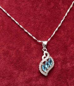 Colier din argint Blue Diamond Look ARG330A