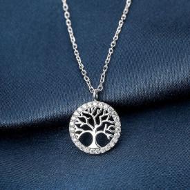 Lantisor Cu Pandativ DIn Argint -- TREE OF LIFE-- ARG149A