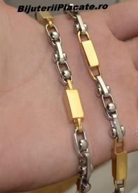 Lant inox Auriu si Argintiu L59