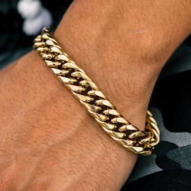 Bold Cuban Link in Gold cod B852A