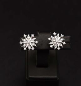 Cercei din argint Luxury Silver Snow Flake- cod ARG358A