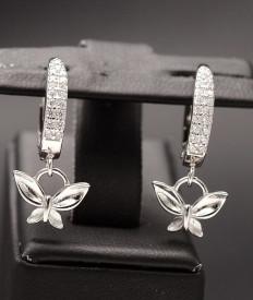 Cercei Din Argint Sapphire Butterflies- Be Nature -cod ARG327