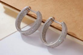 Cercei din argint Shiny cod ARG192