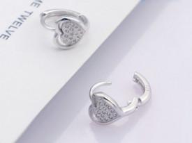Cercei din argint Simple Whisper LOVE cod ARG129A