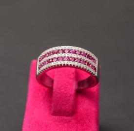 Inel din argint Pink Elegant ARG351