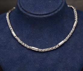 Lant Byzantine din Inox Ton Argintiu LC54C