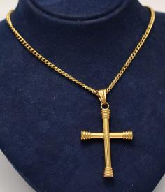 Lant Inox si Cruce Auriu cod LC181B