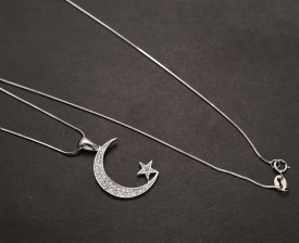 Lantisor Argint Moon&Star---LUNA&STEA--- ARG262