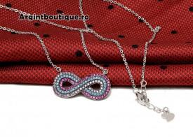 Lantisor Cu Pandativ DIn Argint -- INFINIT MULTICOLOR-- ARG114