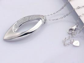 Pandantiv cu lantisor din argint --Tear Drop--