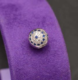 Talisman din argint Blue Flower CHA1091