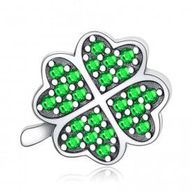 Talisman Din Argint Green -LUCKY- CHA1065A
