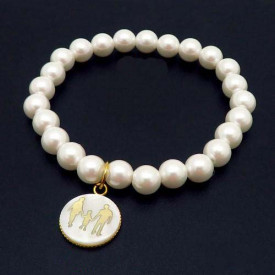 Bratara cu perle albe -FAMILIA- BF851A
