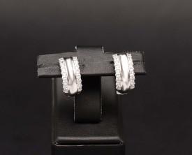 Cercei argint 925 rodiat cu zirconii albe - Eternity -cod ARG332