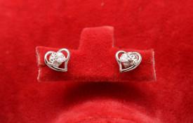 Cercei Din Argint - Diamond Heart cod ARG282D