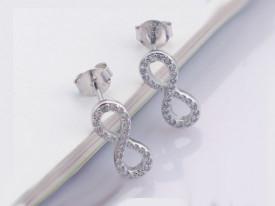 Cercei din argint INFINIT Gift