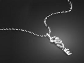 Colier din argint Love ARG190