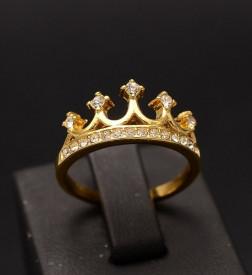 Inel inox auriu -Queen- Cod IF648R
