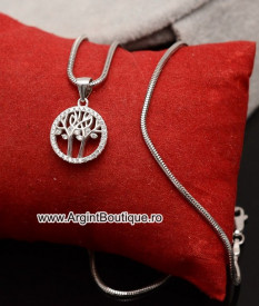 Lantisor cu pandativ din argint -- COPACUL VIETII--ARG169