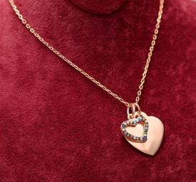 Pandantiv Multicolor Rose cu lantisor din argint -- LOVE--ARG141