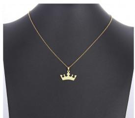 Set Lant+ pandantiv Crown Gold ---FINUT --- Cod LC232A