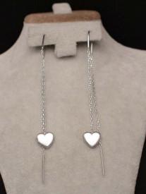 Cercei din argint Long Heart ARG361D
