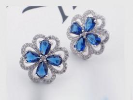 Cercei din argint Round Blue arg196
