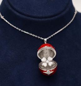 Colier Cu Lantisor Din Argint -- FABERGE Red--ARG300