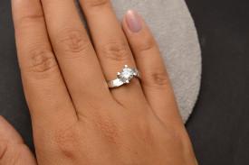 Inel de logodna din argint stralucitor cu Swarovski-ARG39A