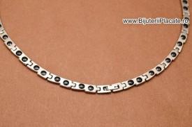 Lant Argintie/Auriu Inox MAGNETIC cod L363G