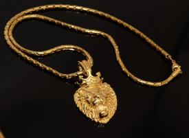 Lant Cu Pandantiv Inox -LION KING- Gold LC67