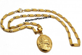 Lant inox si Medalion  LC15K
