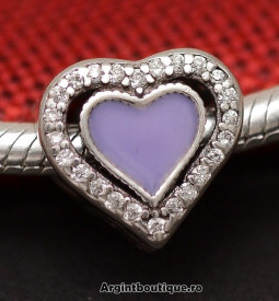 Talisman Argint- INIMA MOV- CHA1056