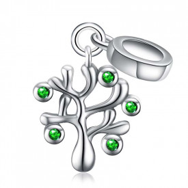 Talisman Din Argint Green -LUCKY PINK- CHA1081A