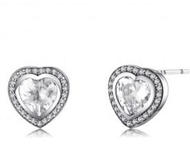 Cercei din Argint Beautiful ---Love Heart--- arg25C