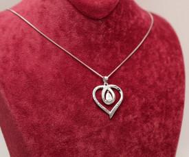 Colier cu lantisor din argint -- I LOVE YOU --