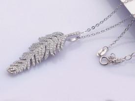 Colier din argint -- FRUNZA -- Arg54