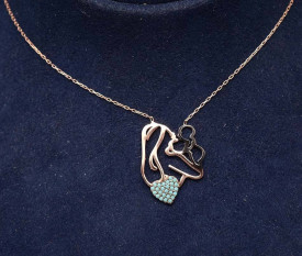 Colier din argint Gold Happy Mom Arg153C