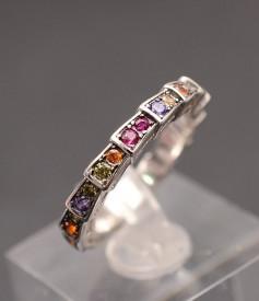 Inel Argint 925 Dama Verigheta Multicolor ARG270