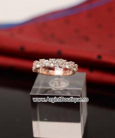 Inel Argint ROZ -- ZIRCONIU -- Arg168