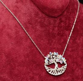 "Lantisor Din Argint --""Amazing Tree of Life""- ARG148A"