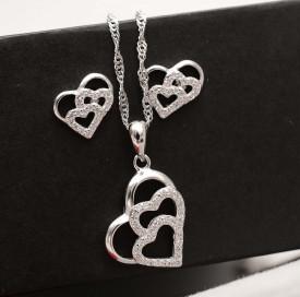 Set Argint 925 Rodiat --Love and Love-- cod ARG240