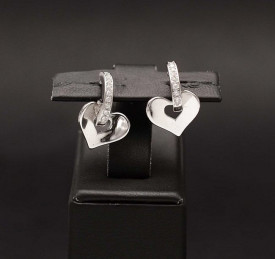Cercei din argint 925 - Love in Love Arg337