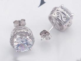 Cercei din argint Wonderful Gift Arg46