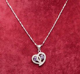 Colier argint 925 Purple Love ARG328A