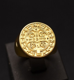 Ghiul Inox Barbati-Sfesnic Balanta-- cod Ghiul Inox Barbati-Catholic Holy Father Saint Benedict-- cod IM639N