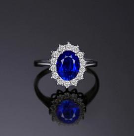 INEL ARGINT CU Zirconiu --BLUE SAPPHIRE-- arg239A